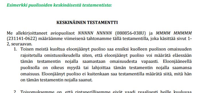 Testamentin Teko